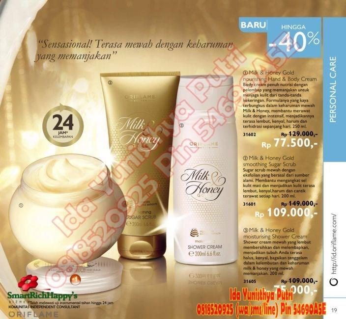Promo Harga Diskon RAngkaian Milk & Honey Gold Oriflame