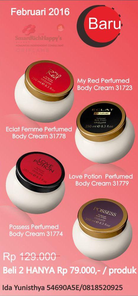 Promo Harga Diskon Perfumed Body Cream Februari 2016
